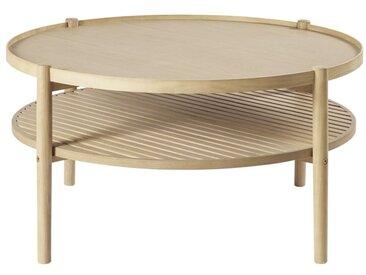 Table basse ronde double plateau Okinawa
