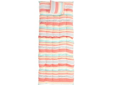 Matelas de sol en coton motifs à rayures 160x70