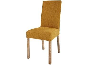 Housse de chaise en tissu ocre MARGAUX
