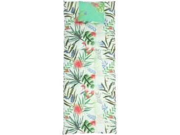 Matelas de sol en coton imprimé tropical 60x170