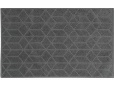 Tapis de bain en coton anthracite à motifs 50x80cm OP ART