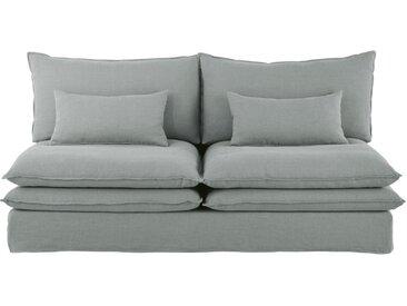 Chauffeuse de canapé 2 places en lin gris clair Pompei