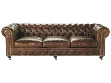 Canapé chesterfield - cuir véritable, velours, ou tissu   meubles.fr