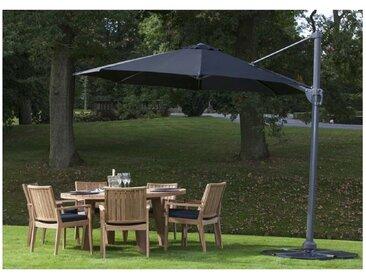 Parasol luxe en alu diamètre 350 cm avec manivelle, modèle Kansas