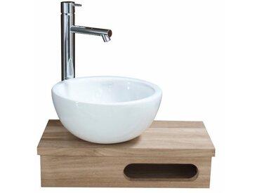 Etagère lave main en chêne massif 40 x 20 cm