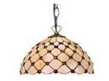 artistar Cabochon suspension en verre style Tiffany 2 lumières