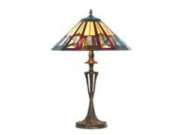 artistar Art déco lampe style Tiffany bleue