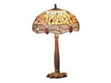 artistar Libellule lampe petit modèle style Tiffany à cabochons multicolores