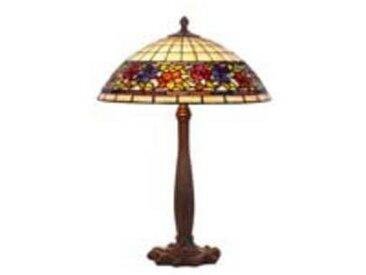 artistar Violette lampe style Tiffany à fleurs grand modèle