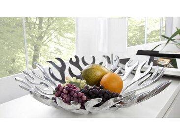 gdegdesign Coupe à fruits design ronde aluminium poli - Hilda