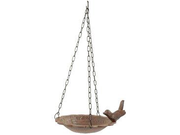 Décoration d'Autrefois - Mangeoire Oiseau Suspendu Fonte - Marron