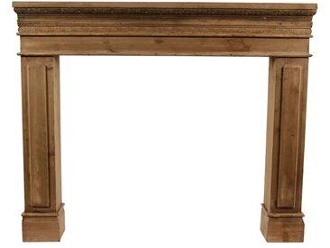 Décoration d'Autrefois - Encadrement Manteau Cheminée 120x17x98.5cm - Bois - Marron