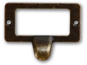 Décoration dAutrefois - 12 Poignées Fonte Aluminium Patinée 04 - Marron