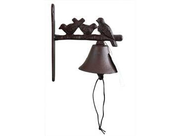 Décoration dAutrefois - Cloche 3 Oiseaux Fonte - Marron