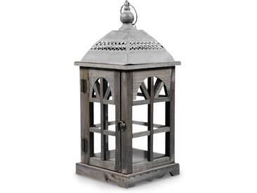 Décoration dAutrefois - Lanterne Bois 20x20x46cm - Marron
