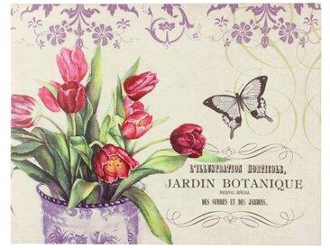 Décoration d'Autrefois - Tableau Horizontal Jardin Botanique Droite 35x45cm - Bois