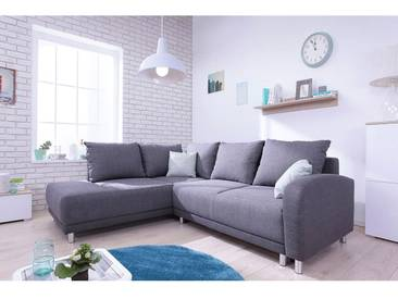 Minty Grand Angle gauche - Canapé convertible 5 places scandinave Bobochic gris anthracite