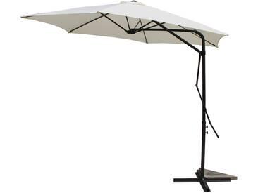 Alcudia Ecru - Parasol rond avec ouverture innovante