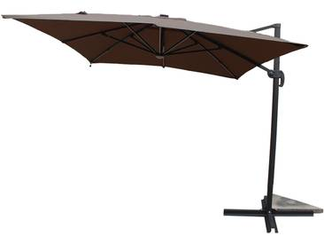 Calvia Chocolat - Parasol rectangulaire avec LED
