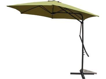 Alcudia Vert - Parasol rond avec ouverture innovante