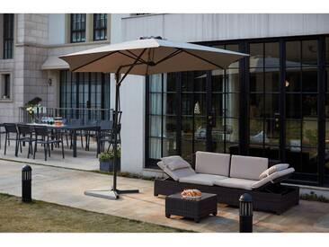 Alcudia Gris- Parasol rond avec ouverture innovante