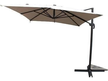 Calvia Ecru - Parasol rectangulaire avec LED