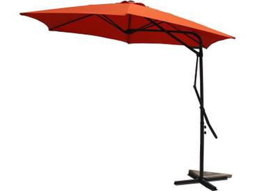 Alcudia Terracota - Parasol rond avec ouverture innovante
