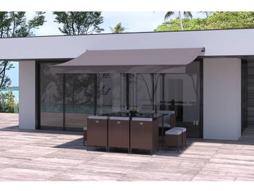 Adro - Store banne taupe 3820 x 2480 mm