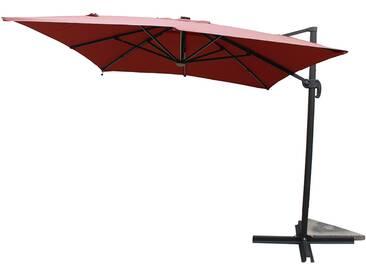 Calvia Terracotta - Parasol rectangulaire avec LED