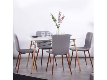 Mila - Lot de 4 chaises scandinaves grises - Pieds métal