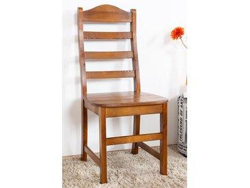 Chaise en bois de pin massif couleur chêne Rustic Junco 245 - Dimensions: 100 x 44,50 x 43,50 cm (H x l x p)
