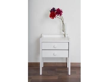 Table de nuit en bois du pin blanc massif 003  – Dimensions: 52 x 40 x 33 cm (L x H x P)