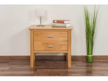 Table de chevet Wooden Nature 137 en cœur de hêtre massif - 50 x 53 x 42 cm (h x l x p)