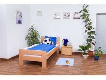Lit pour enfants / ados  Easy Premium Line K2, hêtre naturel massif - Dimensions: 90 x 200 cm