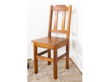 Chaise en bois de pin massif Couleur chêne Rustic Junco 248 - Dimensions: 90 x 36,50 x 38 cm (H x l x p)