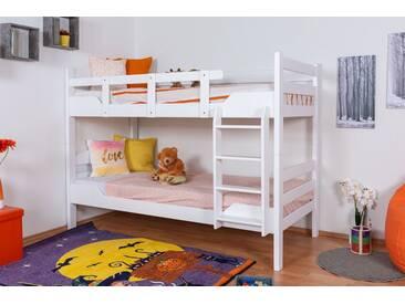 Lit superposé Easy Premium Line K3/n, hêtre massif laqué blanc, séparable - Dimensions : 90 x 200 cm