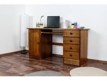 Bureau en bois de pin massif Couleur chêne 003 - Dimensions 74 x 145 x 55 cm (H x L x l)
