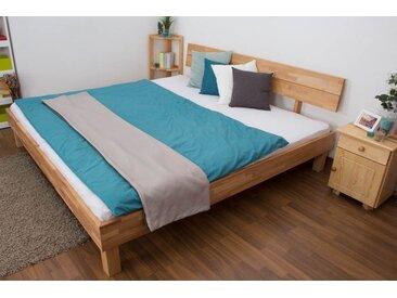 Lit futon / lit en bois massif Wooden Nature 01 cœur de hêtre huilé - Dimensions du couchage 200 x 200 cm