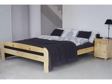 Lit futon bois de pin massif naturel A11, incl. sommier à lattes – Dimensions : 160 x 200 cm