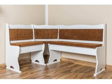 Banquette bois du pin massif blanc 244 - Dimensions: 85 x 147 x 107 cm