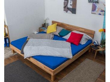 Lit futon / lit en bois massif Wooden Nature 03 cœur de hêtre huilé - Dimensions du couchage 200 x 200 cm