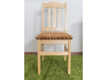 Chaise en bois de pin massif naturel 002 – Dimensions: 93 x 43 x 45 cm