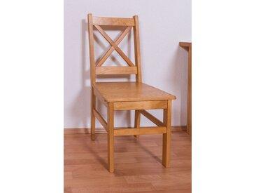 Chaise en bois de pin massif couleur aulne Junco 246 - Dimensions : 94 x 42,5 x 43 cm (H x l x p)