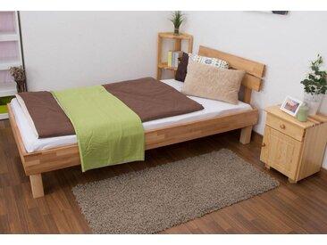 Lit futon / lit en bois massif Wooden Nature 03 cœur de hêtre huilé - Dimensions du couchage 90 x 200 cm
