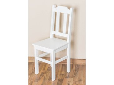 Chaise en bois du pin massif blanc « Junco » 248 – Dimensions: 91 x 35 x 44 cm