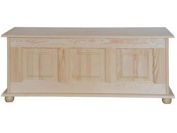 Coffre en bois de pin massif naturel 180 - 50 x 120 x 48 cm (H x l x p)