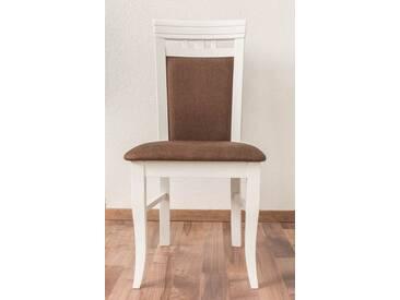 Chaise en bois d´hetre massif blanc « Junco » 249 – Dimensions: 98 x 48 x 50 cm