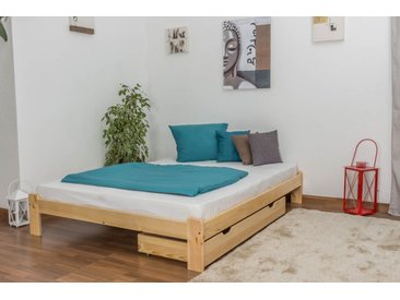 Lit futon bois de pin massif naturel A10, incl. sommier à lattes – Dimensions : 160 x 200 cm