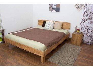 Lit futon / lit en bois massif Wooden Nature 02 chêne huilé - Dimensions du couchage 180 x 200 cm