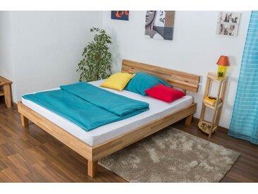 Lit futon / lit en bois massif Wooden Nature 03 cœur de hêtre huilé - Dimensions du couchage 160 x 200 cm
